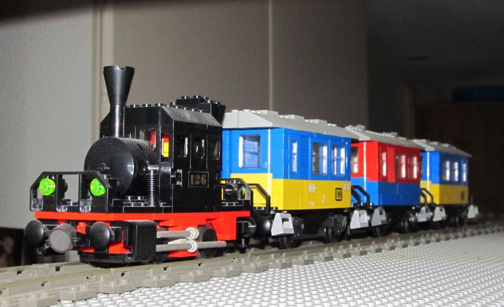 La BR98 et ses petits wagons